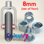 Wheelchair Castor spacers from Spinnerz — 8mm