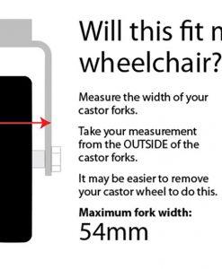 wheelchair castor axles